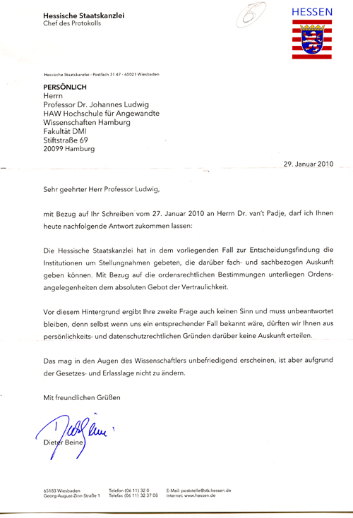 Briefe Mit Antwort Frankieren : K ein bundesverdienstkreuz für stefan r aber andere